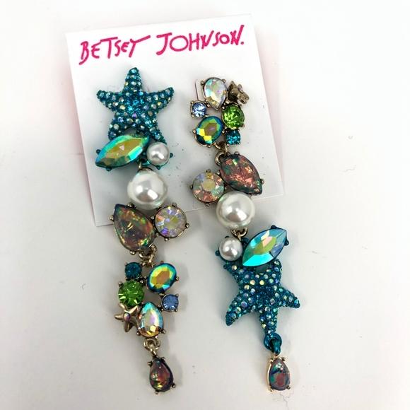 Betsey Johnson Jewelry - Betsey Johnson | Teal Aqua Blue Starfish Pearl
